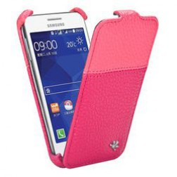 Gecko Covers robuste flip cover voor Samsung Galaxy Core 2 - roze