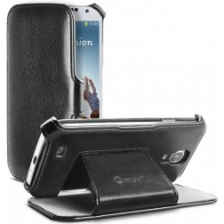 Muvit Samsung Galaxy S4 Folio Stand Case Black with Cardslot (MUSSL0107)