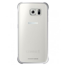 Samsung Clear Cover voor Samsung Galaxy S6 edge - Zilver
