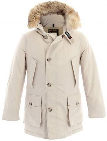 Woolrich Byrd Cloth Arctic Parka Jas Heren Wit - Maat XL