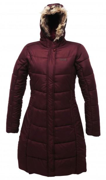 Dames Parka Regatta Blissful Winterjas | Bordeaux Rood