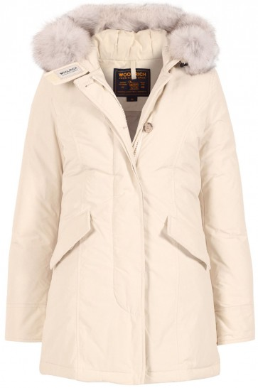 Woolrich Down Luxury Arctic Parka Fox Jas Dames Wit - Maat M