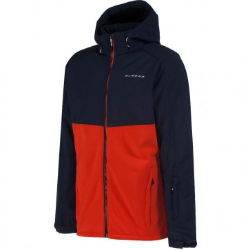 Dare 2b Reconsile Heren Winter Softshell Jas - Blauw / Oranje