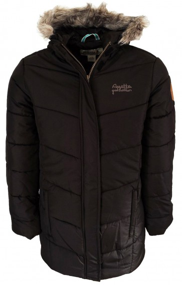 Regatta Blissful Meisjes Parka Winterjas Zwart