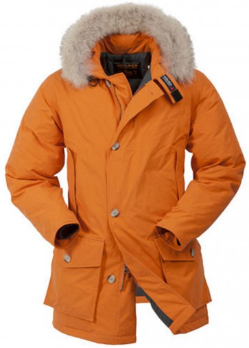 Woolrich Byrd Cloth Arctic Parka Jas Heren Oranje - Maat L