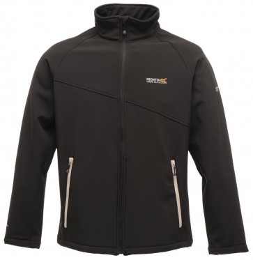 Regatta Nebraska Softshell Jas Heren - Zwart