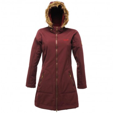 Softshell Parka Dames - Regatta Autumnstar Winterjas - Bordeaux Rood