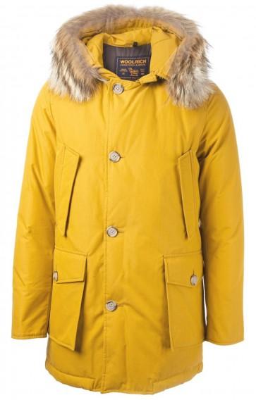 Woolrich Byrd Cloth Arctic Parka Jas Heren Geel - Maat XL