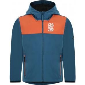 Dare 2b Refrain Softshell Kinderjas - Blauw/Oranje