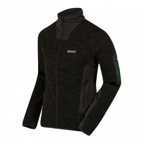 Regatta Columbus III Fleece Jas Heren - Zwart