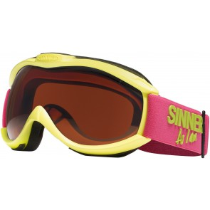 Sinner Toxic Matte Lime Green Double Orange - Skibril (Cat. 2 - ☀)