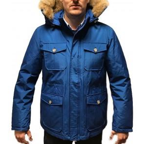 Woolrich Winterjas Blauw Heren - Maat XL