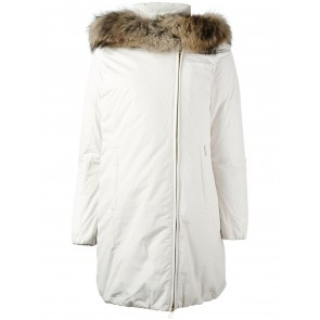 Woolrich Eugene Coat Winterjas Dames Gebroken Wit - Maat S