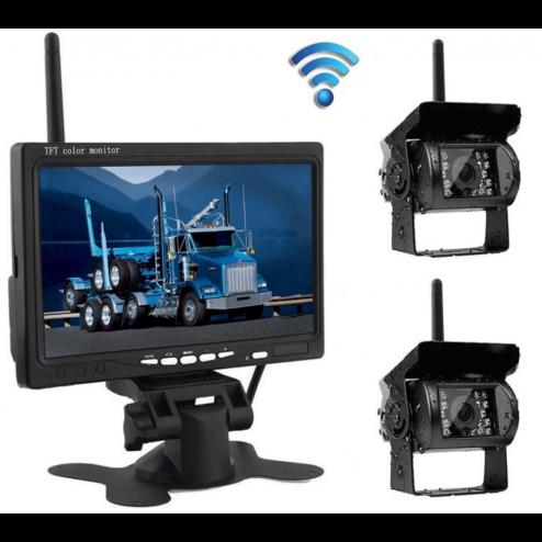 BrandWay Achteruitrijcamera Draadloos met 2 Camera's voor Camper / Caravan / Vrachtwagen / Landbouwmachines - 7 Inch - Open doos model