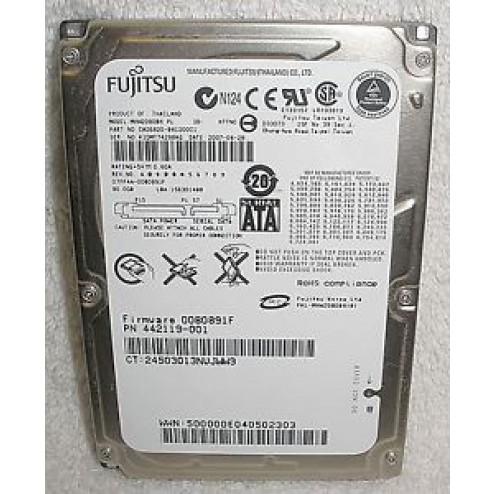 Fujitsu Mobile MHW2080BH SATA - Interne harde schijf / 80GB / 2,5 inch SATA
