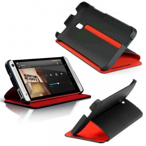 HTC HC V851 DoubleDip Hard Shell Cover Black/Red