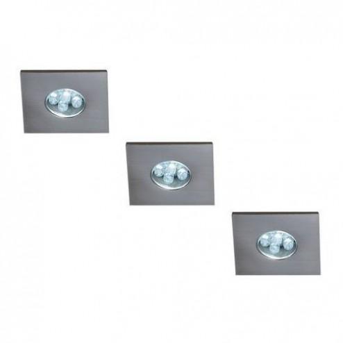 Massive LED Indoor Monticello 3 Inbouwspots - Zilver