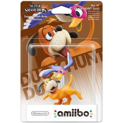 Nintendo amiibo Super Smash Figuur Mii Sword Fighter + Duck Hunt Duo  - Wii U + NEW 3DS