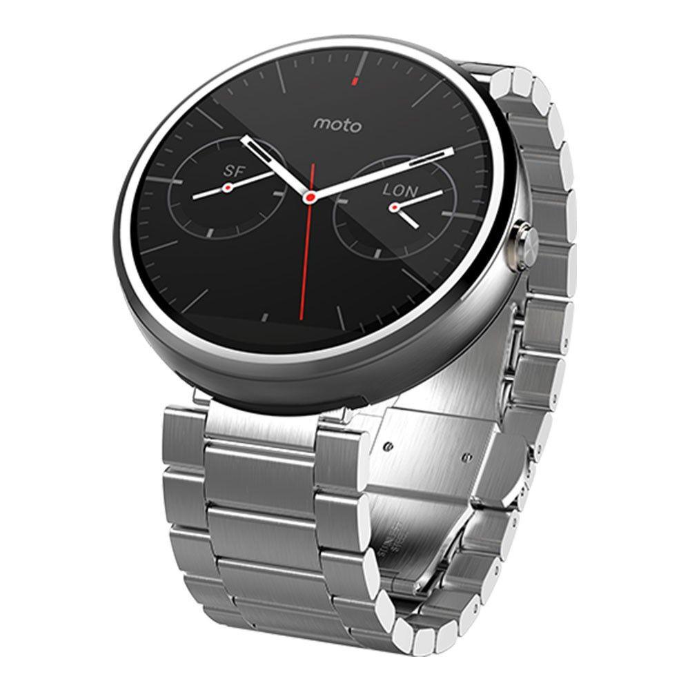 Motorola Moto 360 smartwatch - Zilver met metalen band