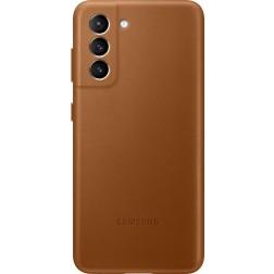 Samsung Galaxy S21 Back Cover Leer Bruin