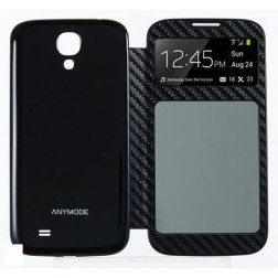 Anymode Dual Window Cover voor de Samsung Galaxy S4 - Zwart
