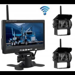 BrandWay Achteruitrijcamera Draadloos met 2 Camera's voor Camper / Caravan / Vrachtwagen / Landbouwmachines - 7 Inch