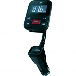Caliber PMT556BT - Bluetooth handsfree kit en FM transmitter - Zwart