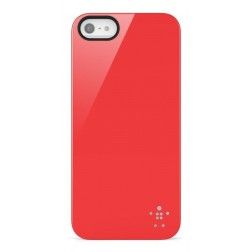 COVER/SHIELD.PC.iPhone 5.TRNS/SFT.FRSH (Rood)