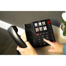 Fysic FX-3930 Senioren Foto Telefoon | 6 Fototoetsen, Handenvrij telefoneren en Extra luid belvolume (+85dB) | Zwart