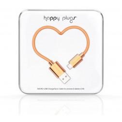 Happy Plugs MICRO USB KABEL ROSE GOLD 2M