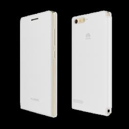 Huawei flip tasje - wit - voor Huawei G6 LTE