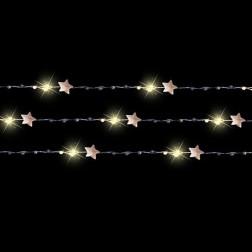 Luca Lighting - Bundel sterretjes met 90 LED lampjes en onzichtbaar draad - Warm wit