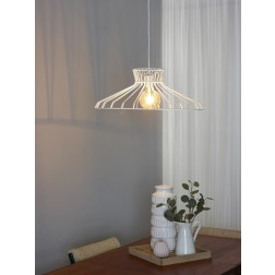 Lucide HOTT - Hanglamp - Ø 65 cm - E27 - Wit