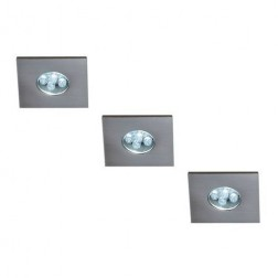 Massive LED Indoor Monticello 3 Inbouwspots - Zilver