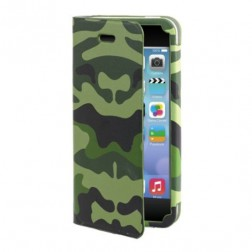 Muvit - Agenda Case Camo - iPhone 5c - groen