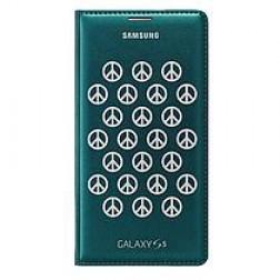 Samsung Flip Wallet voor de Samsung Galaxy S5 - Groen/Zilver
