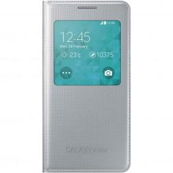 Samsung S view cover voor de Samsung Galaxy Alpha | Zilver/Grijs