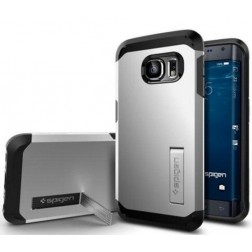 Spigen Tough Armor voor Samsung Galaxy S6 Edge Back Cover - Zilver