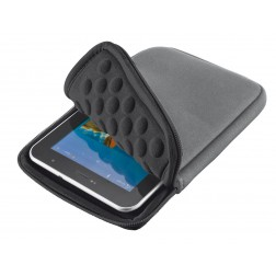 "Trust 7"" Nylon Anti-shock Bubble Sleeve voor tablets - Grijs"
