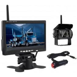 BrandWay Draadloze Achteruitrijcamera set met 7 inch scherm - Auto / Camper / Caravan / Vrachtwagen / Landbouw Machines