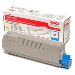 Oki Toner - cyaan voor de C5600 / C5700 (6k)