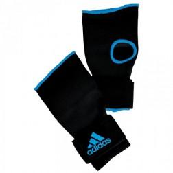Adidas Gevoerde Boks binnenhandschoen Zwart/Blauw Maat L