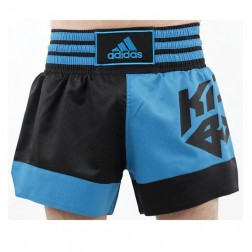 Adidas Thai En Kickboksshort Zwart/Blauw Extra Extra Small