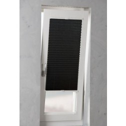 Pure Living - Plissé met zijgeleiding - 100x240 cm - Crushed Raven Grey