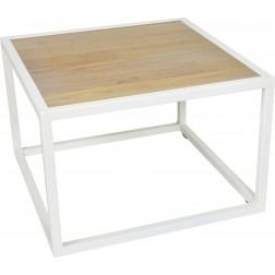 Spinder Design Diva - Salontafel - 60x60x40 - Wit/Eiken | 2e Kans