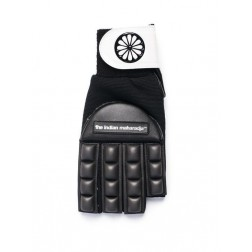 The Indian Maharadja Glove Long Finger Sr. - Zaalhockeyhandschoen - Links - Maat L - Zwart/ Wit
