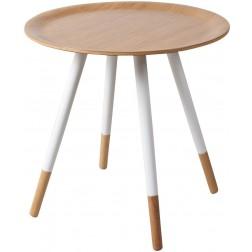 Zuiver Bamboo Disc - Bijzettafel - Wit